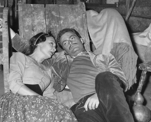 Il mago della pioggia di N. Richard Nash. Regia di G. Morandi. Con Elsa Merlini, Corrado Pani, Alberto Lupo. 1956
