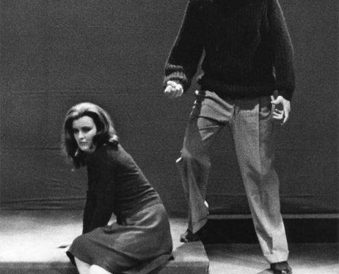 Compagnia di prosa Occhini-Vannucchi-Fantoni-Ronconi. Acque turbate di Ugo Betti. Regia di Mario Ferrero. 1961.