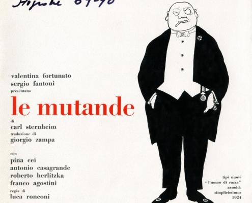 Le mutande di Karl Sternheim. Regia di Luca Ronconi. Con Roberto Herlitzka, Antonio Casagrande e Valentina Fortunato. 1968.