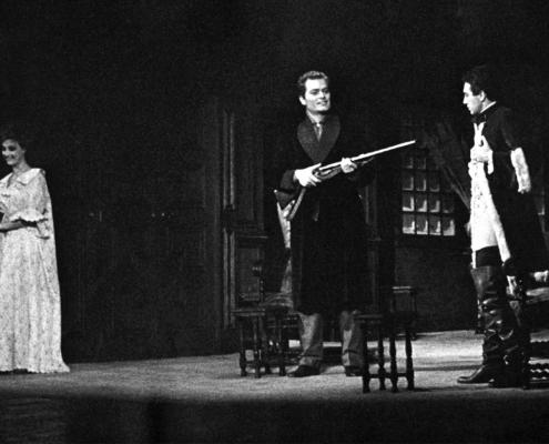 Compagnia di prosa Occhini-Vannucchi-Fantoni-Ronconi. Castello in Svezia di Francois Sagan. Regia di Luciano Mondolfo. 1961.