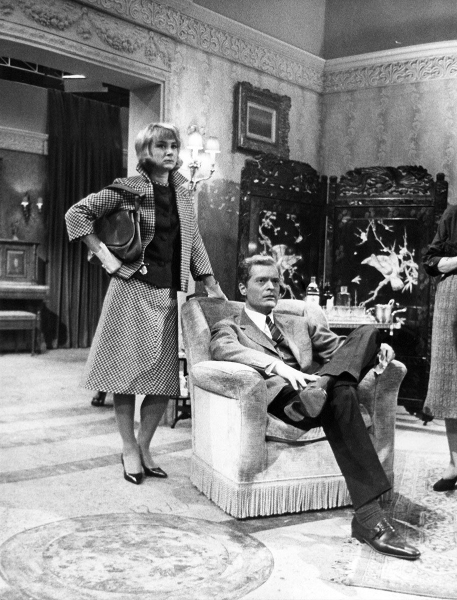 1962. Rai, Roma. Cocktail party di T.S.Eliot. Regia di Mario Ferrero.