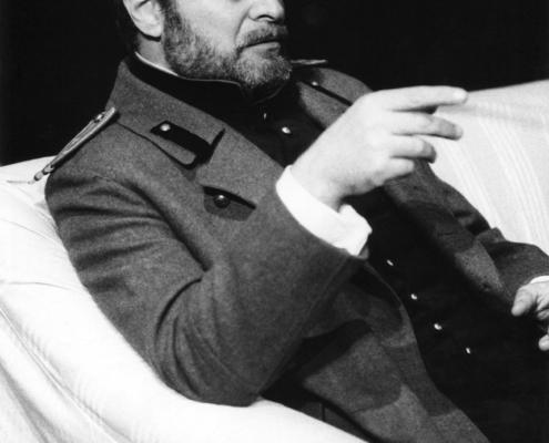 Sergio Fantoni in Tre sorelle di Anton Čechov. Regia di Giorgio De Lullo. 1981.